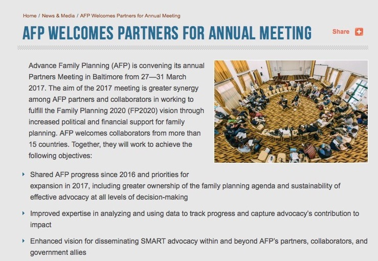 Advocacy Now More Than Ever: Recommitting to FP2020
